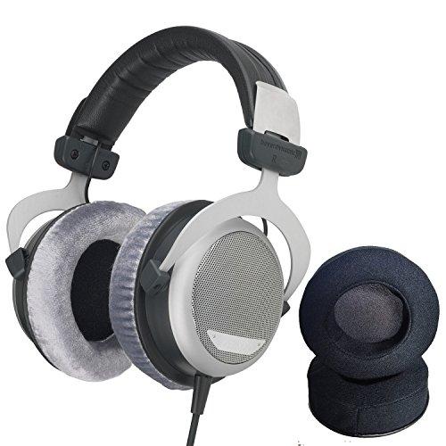 Beyerdynamic DT-880 Pro Headphones with Dekoni Audio Elite Velour Earpad set