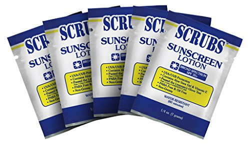 SCRUBS 92101 Sunscreen Lotion, 0.25 fl.oz, Case of 100