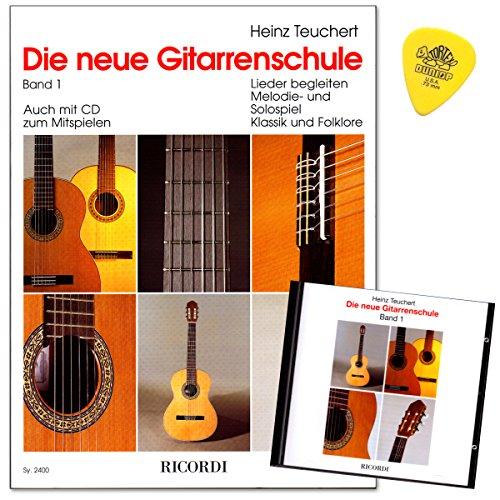 Die neue Gitarrenschule Band 1 von Heinz Teuchert mit CD,Plek - leicht nachvollziehbare Lernschritte - Erklärung aller Spielvorgänge mit vielen Foto - Melodiespiel mit begleitender Lehrerstimme