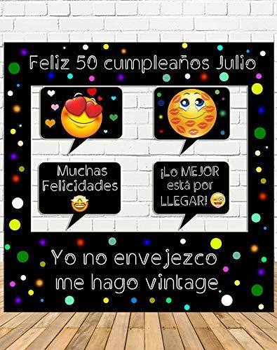 Tu Fiesta Mola Mazo Photocall de cumpleaños 100x100cm| Divertido y económico|Detalle de cumpleaños| Hazte Unas Fotos Divertidas de cumpleaños| Personalizable