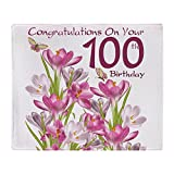 CafePress 100Th Birthday Pink Crocus Throw Blanket Soft Fleece Throw Blanket, 50'x60' Stadium Blanket