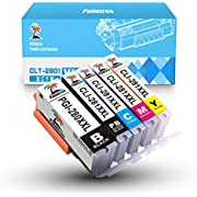 Palmtree Compatible Ink Cartridge Replacement for Canon PGI-280XXL CLI-281XXL PGI 280 CLI 281 (PGBK & BK/C/M/Y 5 Pack Combo) for Pixma TS6120 TS6220 TS8120 TR7520 TR8520 TS9120 TS8220 TS9520 TS9521C