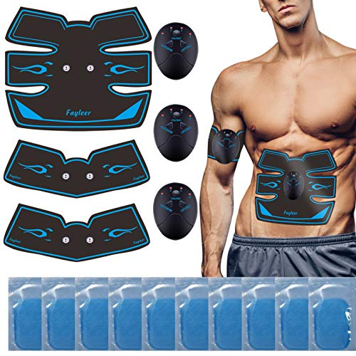 fayleer Electroestimulador Muscular Abdominales EMS, Estimulador Muscular Abdominales, para Abdomen/Cintura/Pierna/Brazo