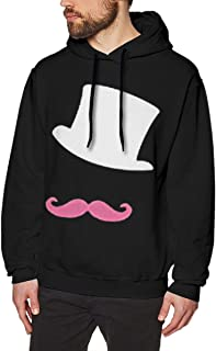 Men's Long Sleeve Markiplier White Hat And Pink Moustache Classic Travel Fleece