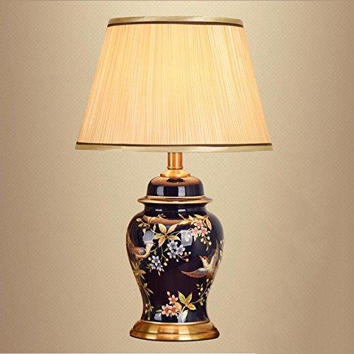 HZS Lámpara de cabecera de Dormitorio Americana Lámpara de Sala de Estar Creativa de cerámica Moderna Simple Europea cálida