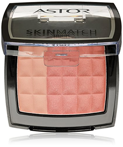 Astor SkinMatch Trio Blush, 002 Peachy Coral, Rouge 3-farbig, 1er Pack (1 x 8.25g)