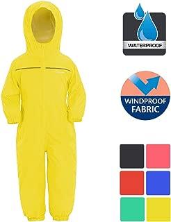 Kids Rain Snow Suit Coat for Boys Girls Lightweight Breathable Leopard Puddle Unisex Drip Drop Raincoat Waterproof Windproof 1PC RainSuit-Green,5-6 Years