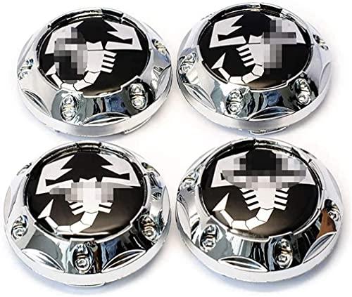 Cubiertas De Casquillos Centrales De Buje De Rueda De AutomóVil 60mm Para Fiat 500 Punto Bravo Stilo Panda Abarth 500 CalcomaníAs Reemplazo Insignia Emblema Cubiertas Decorativas Ajuste De Rueda Coche