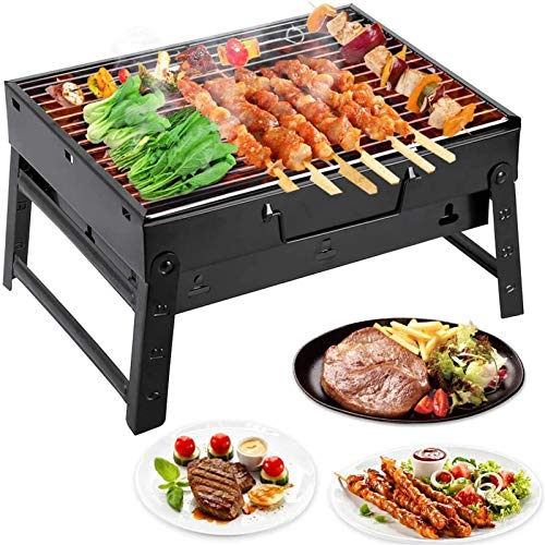 XiuLi Foldable folding grill BBQ charcoal grill travel grill mini grill table grill picnic camping grill
