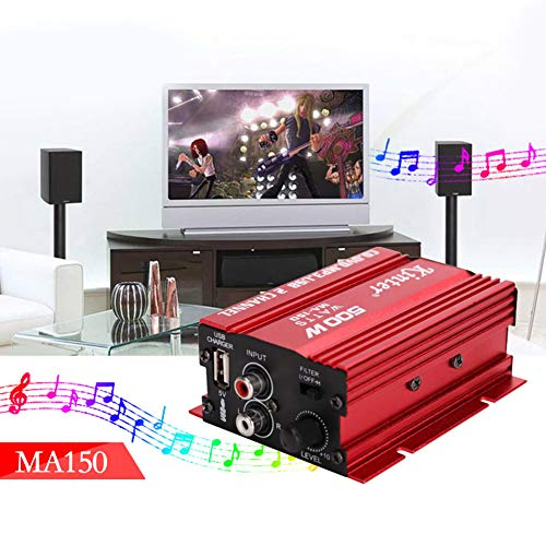 MeterMall Auto For MA150 500W Car Motorcycle 12V 2CH 2 Channel Audio AMP Amplifier Subwoofer