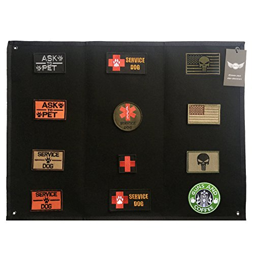 AegisTac Patch Display Board Patch Holder Patch Display Frame Tactical Airsoft Military Patches (Black)
