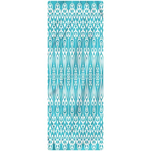Aqua Runner Rug, 2'x3', Oriental Floral Swirls Decorative Runner Rug with Non Slip Backing for Hallway Entry Way Floor Carpet