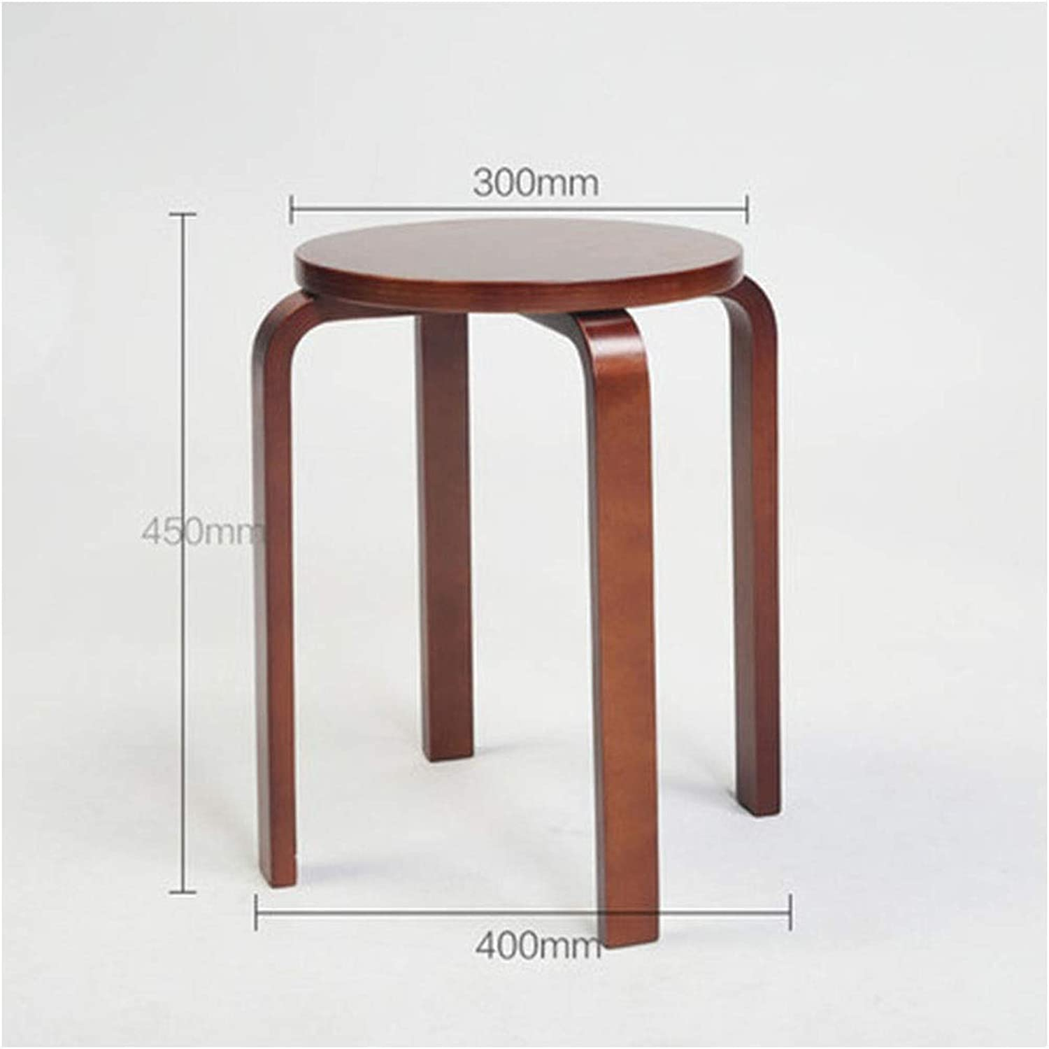 B.YDCM Wooden Bench- Stool Fashion Creative Home Stool Small Bench Wooden Bench Dining Table Stool Living Room Stool - Wood Bench (color   B)