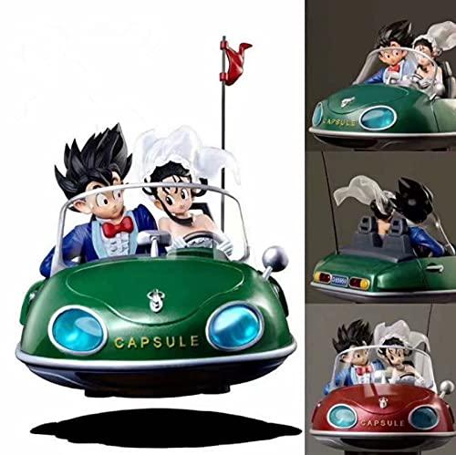 Figuras DeCoche De Boda De20Cm Dragon BallGokuChichicon Luz Led Dragon Ball SuperGokuFigura De Acción Decoración De Coche Juguetes Regalos