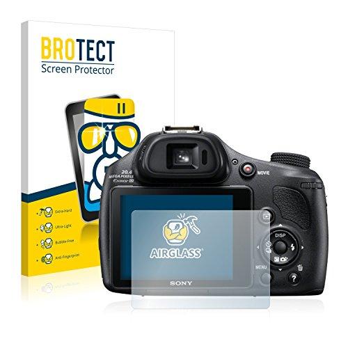 BROTECT Protector Pantalla Cristal Compatible con Sony Cyber-Shot DSC-HX400V Protector Pantalla Vidrio - Dureza Extrema, Anti-Huellas, AirGlass