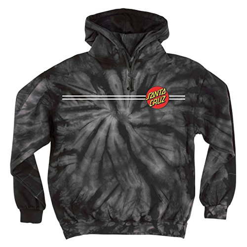 Santa Cruz Mens Classic Dot Hoody Pullover Sweatshirt Medium Spider Black