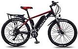 Bicicletas Eléctricas, Bicis de montaña eléctrica de 26 pulgadas de 26 pulgadas, marco de aleación de aluminio de batería de litio 36V, bicicleta eléctrica de pantalla LCD multifunción, 30 velocidades