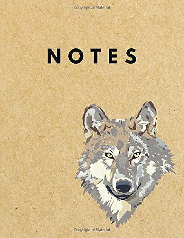 台無しに言及するポーンNotes: Unlined Plain Retro Notebook | Large (8.5 x 11 inches) Letter Size | 120 unruled pages | Wolf Brown Paper Soft Cover [並行輸入品]