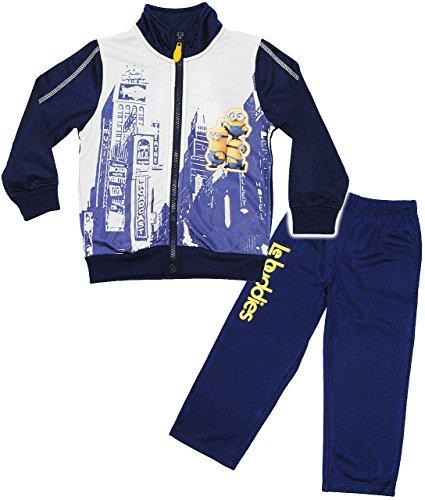 alles-meine.de GmbH 2 TLG. Set _ Jogginganzug / Hausanzug -  Minions - Ich einfach unverbesserlich  - Größe: 4 Jahre - Gr. 116 - mit Jacke / Langer Pyjama / langärmlig - Jogger..