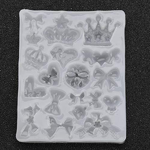 Sren Molde epoxi de 3 Piezas, moldes de Silicona Que admiten Entre -40 ℃ y 230 ℃ Molde de Silicona para Colgantes, Molde de Resina para Hacer Colgantes de joyería, Formas para moldear