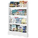 Homfa Librería Infantil para Niños Estantería de Pared Estantería Infantil...