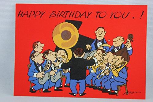 Postkarte A6 • 093 ''Orchester'' von Inkognito • Künstler: Loriot • Geburtstag