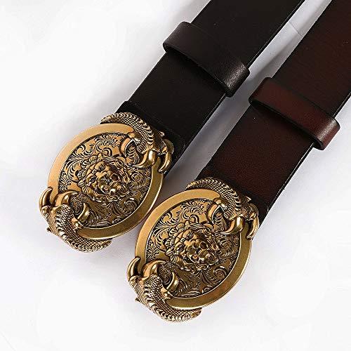 MICEROSHE Cómodo Cinturón Punk Cinturón de Cuero de Mujer Cinturón Unisex Punk Cinturón y Vintage Casual Oro Pequeño Tachuelas Accesorios Tachuelas Cinturón Hebilla Hombre