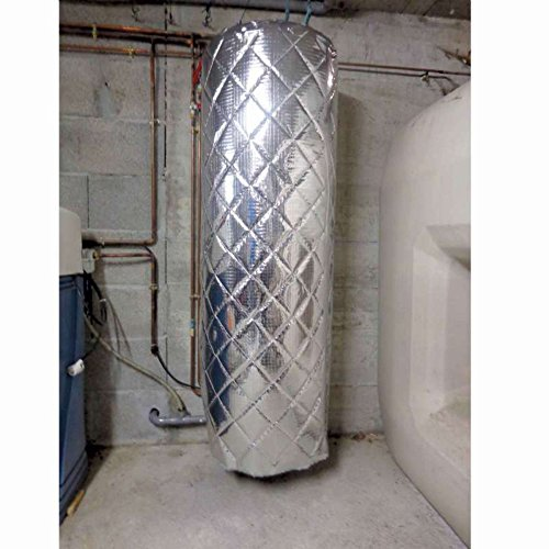 WerkaPro 10487 - Isolant métallisé - Pour ballon deau chaude paroi ALU - Facile à poser et à découper