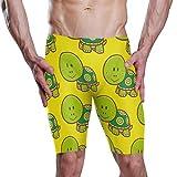 Montoj - Bañador para hombre (tallas S-XXXL), diseño de tortugas verdes 1 XXX-Large