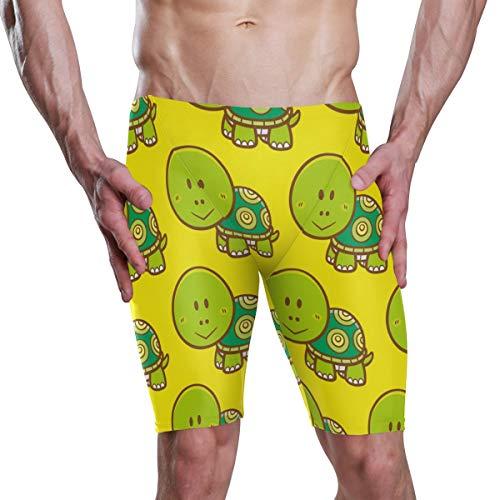 MONTOJ Herren Badehose/Badehose mit süßen grünen Schildkröten, S-XXXL Gr. S, 1