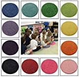 """24 Rainbow Kids Crazy Carpet Circle Seats 18"""" Round Soft Warm Floor Mat - Cushions   Classroom, Story Time, Group Activity, Time-Out Spot Marker and Fun. Home Bedroom & Play Areas"""