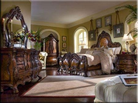 Chateau Beauvais 6-Piece California King Bedroom Set - Aico 75050-39