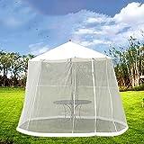 HANSHI HZC354 Sonnenschirm für den Außenbereich, 2,7 m, Moskitonetz, Insektennetz, Konverter, Pavillon, Sonnenschirm