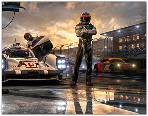 Luck7 Lienzos De Fotos 23.6'x35.4'(60x90cm) Oil Men Forza Motorsport Pictures Decoración del hogar para Sala de Estar y Dormitorio Sin Marco