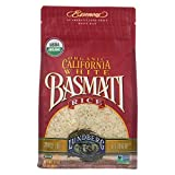 Lundberg Family Farms - Organic California White Basmati Rice, Pleasant Aroma, Fluffy Texture, Won't Clump When Cooked, Gluten-Free, Non-GMO, USDA Certified Organic, Vegan, Kosher (32 oz, 6-Pack)