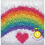 Kits de cojines con gancho para alfombras, funda de cojín para bricolaje, kit de bordado de almohada para niños, adultos y principiantes, para el hogar, sofá, decoración de m(Size:42cm/16.5in,Color:2)