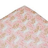 Spannbettlaken für Kinderbett, Einhörner, passend für Standard-Matratzen und Tagesbetten, Pink