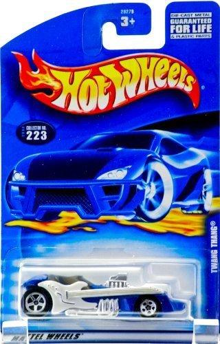 Hot Wheels 2000 Mattel Collector #223 Twang Thang Gitarren-Seitenwände, Chrom-Innenseite, größere Hinterräder, Limitierte Auflage, Sammlerstück