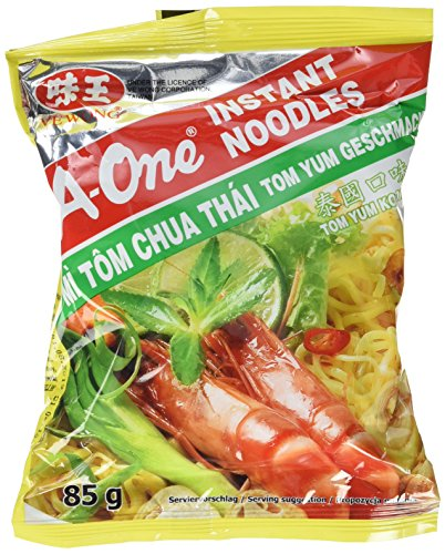 A-ONE Instantnudeln, Tom Yum Koong, 30er Pack  (30 x 85 g Packung)