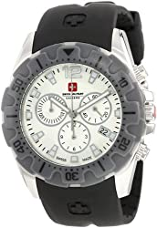 Swiss Military Calibre Men's 06-4M2-04-001.9 Marine Chronograph Textured Dial Black Rubber Watch