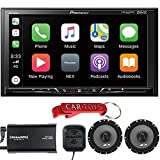 Pioneer DMH-1500NEX Digital Media Receiver Endless Entertainment Bundle with SiriusXM Tuner and Premium Alpine Coaxial Speakers. Car Stereo with 7' WVGA Display, Apple CarPlay, Android Auto, High-Res