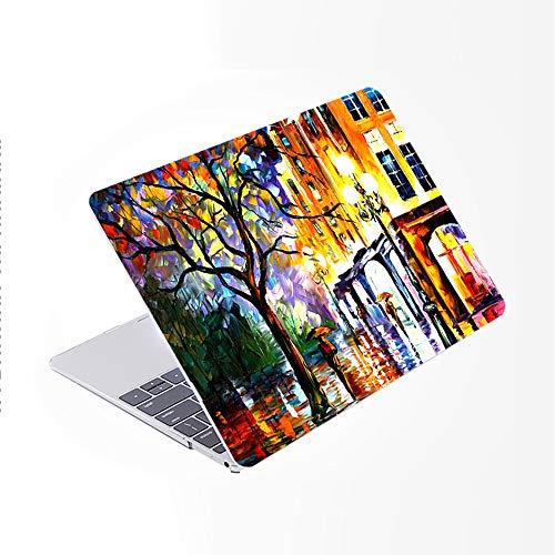 SDH Funda para MacBook de 12 pulgadas modelo A1534,piel de teclado degradado, compatible con Mac 12 pulgadas Retina Display 2015 2016/2017 lanzamiento,pintura de paisaje 2