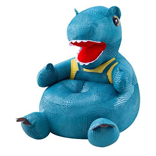 Gemütlicher Kinderstuhl Netter Cartoon-Form-Dinosaurier-Kindersofastuhl Rutschfeste untere weiche Plüsch Stoff Couch Kleinkind Baby Jungen und Mädchen Geschenkmöbel für Wohnzimmer Schlafzimmer