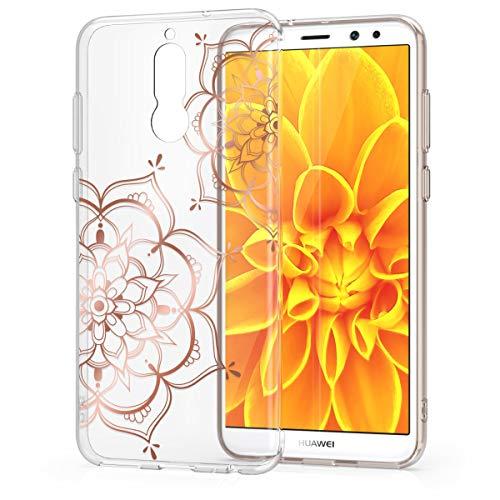 kwmobile Huawei Mate 10 Lite Hülle - Handyhülle für Huawei Mate 10 Lite - Handy Case in Blumen Zwillinge Design Rosegold Transparent - 5