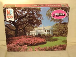 Vintage 1978 MB Milton Bradley Big Ben 1000 Piece Jigsaw Puzzle - North Carolina Plantation #12 - Made In USA - Measures 26 3/16 x 20 1/8 Inches