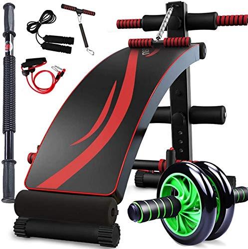 LDM Verstellbare Sit Up AB Bank, Faltbare Decline Bank mit Reverse Crunch Griff für Heimgymnastik, Sport-Fitnessgeräte Multifunktional (Farbe: A)