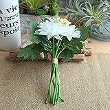 Koperras Un Bouquet De Fleurs Artificielles Dahlia Cosmos Berry Feuille De MariéE Mariage HôTel Bureau FêTe des MèRes Anniversaire Jardin DéCoration Maison