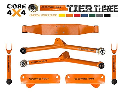 Jeep Cherokee (1986-2001) Full Heavy Duty Long Arm Upgrade TIER THREE, Bare Metal & Disassembled LIFETIME REPLACEMENT GUARANTEE