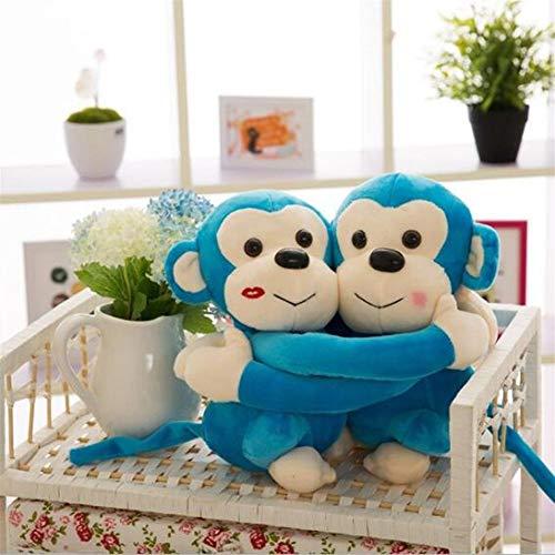 Nuevo mono Abrazo de los pares del mono lindo almohadilla de la felpa de la muñeca del mono pares de la boda muñecas de regalo la decoración del hogar del regalo de cumpleaños de la muchacha