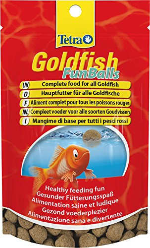 Tetra Goldfish FunBalls Fish Food, Complete Food for All Goldfish for Healthy Feeding Fun, 20 g
